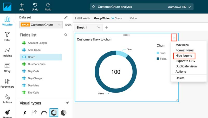 Visualizing Amazon SageMaker machine learning predictions with Amazon QuickSight 19