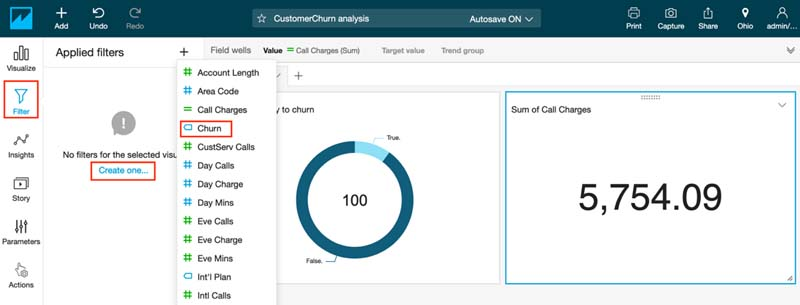 Visualizing Amazon SageMaker machine learning predictions with Amazon QuickSight 26