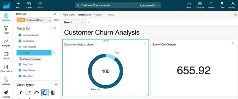 Visualizing Amazon SageMaker machine learning predictions with Amazon QuickSight 33
