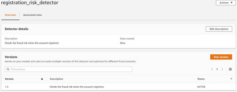 Catching fraud faster by building a proof of concept in Amazon Fraud Detector 5