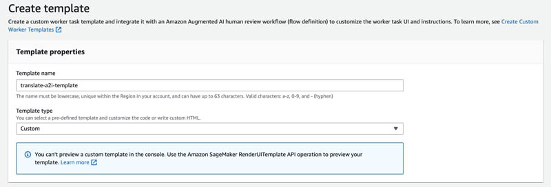 Designing human review workflows with Amazon Translate and Amazon Augmented AI 8