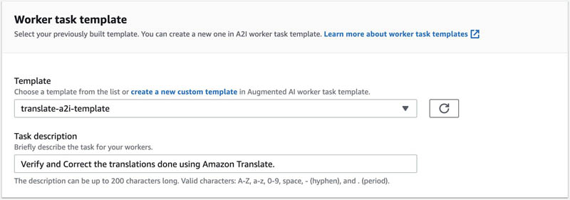 Designing human review workflows with Amazon Translate and Amazon Augmented AI 15