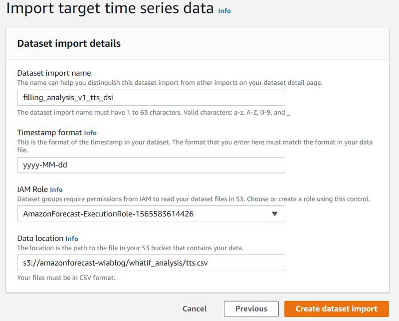 Managing missing values in your target and related datasets with automated imputation support in Amazon Forecast 6