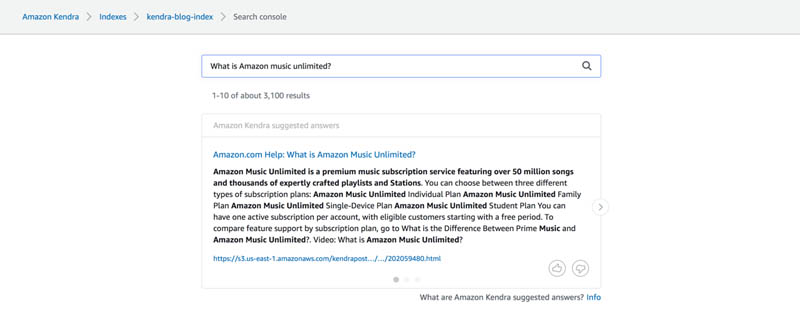 Enhancing enterprise search with Amazon Kendra 18