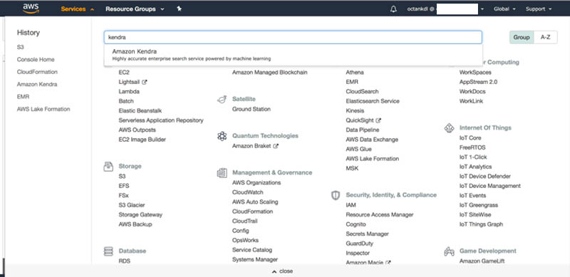 Enhancing enterprise search with Amazon Kendra 3