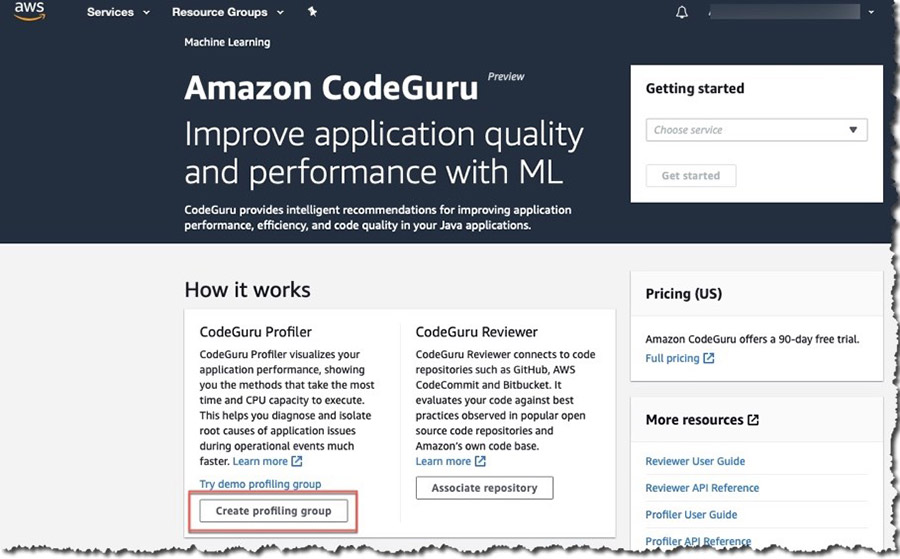 Simplifying application onboarding with Amazon CodeGuru Profiler 1