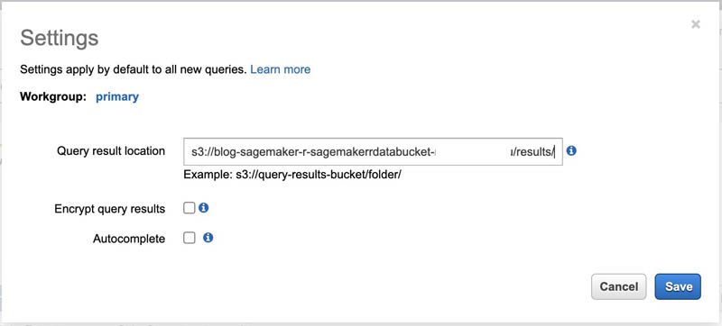 Accessing data sources from Amazon SageMaker R kernels 22
