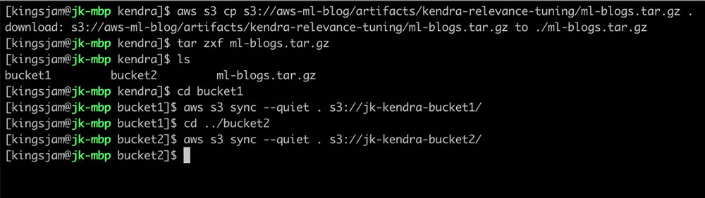 Relevance tuning with Amazon Kendra 2
