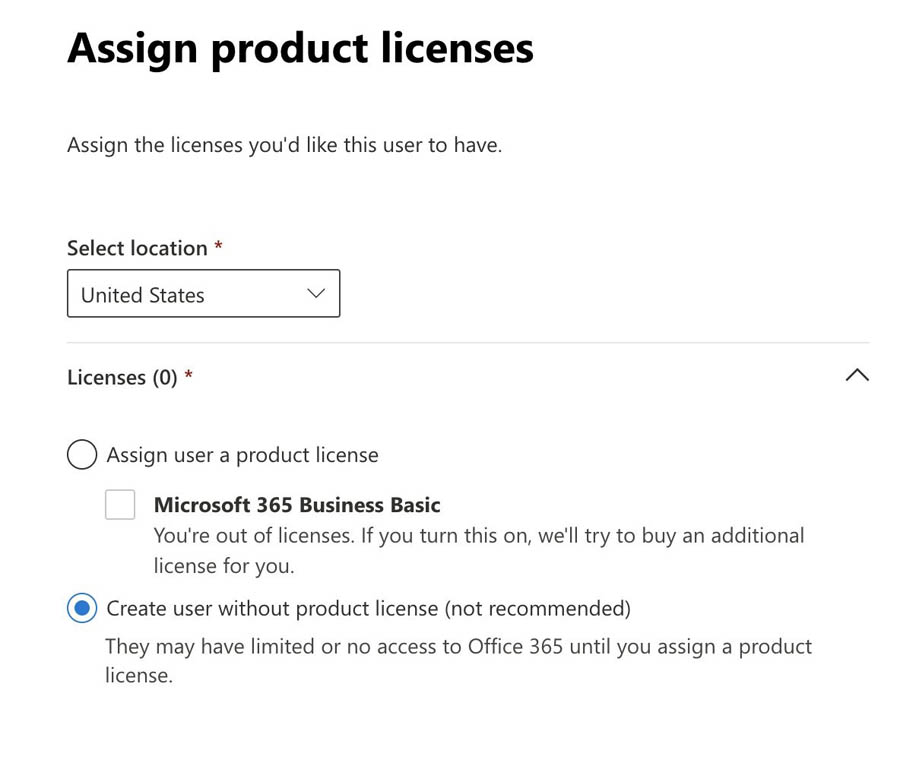 30 Assign product licenses Screenshot