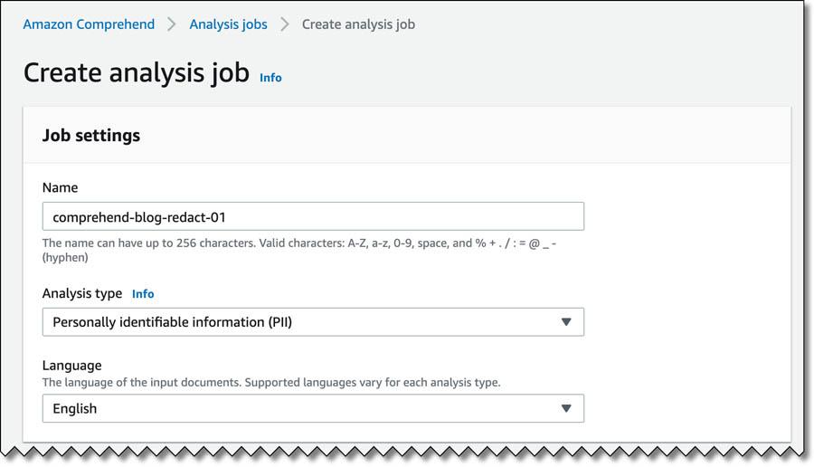 4 Create analysis job