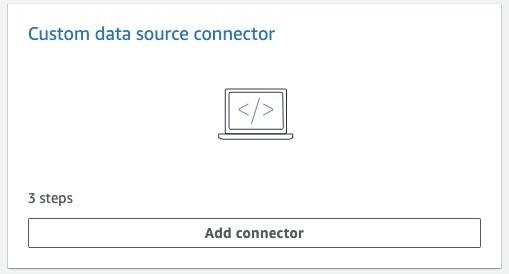 Adding custom data sources to Amazon Kendra 4