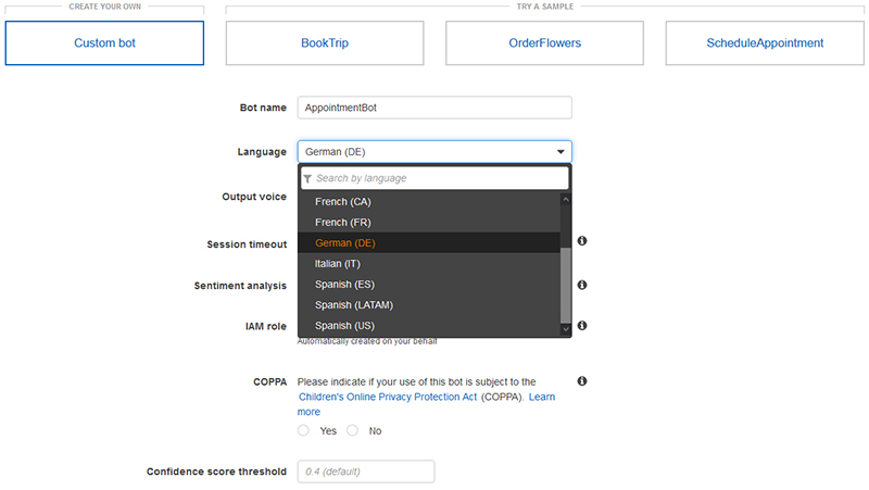 Amazon Lex launches support for Latin American Spanish and German