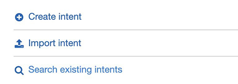 Create intent v2