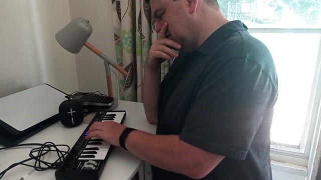 Greg composing his melody.