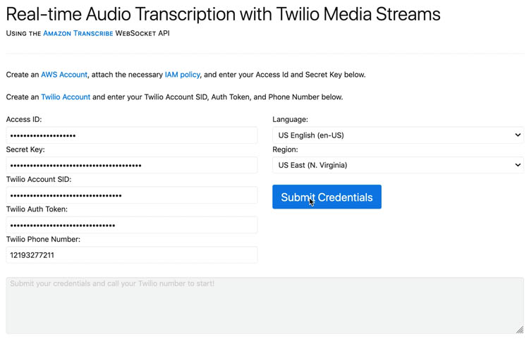 23 Real time Audio Transcription