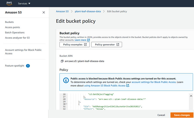 9 edit bucket policy
