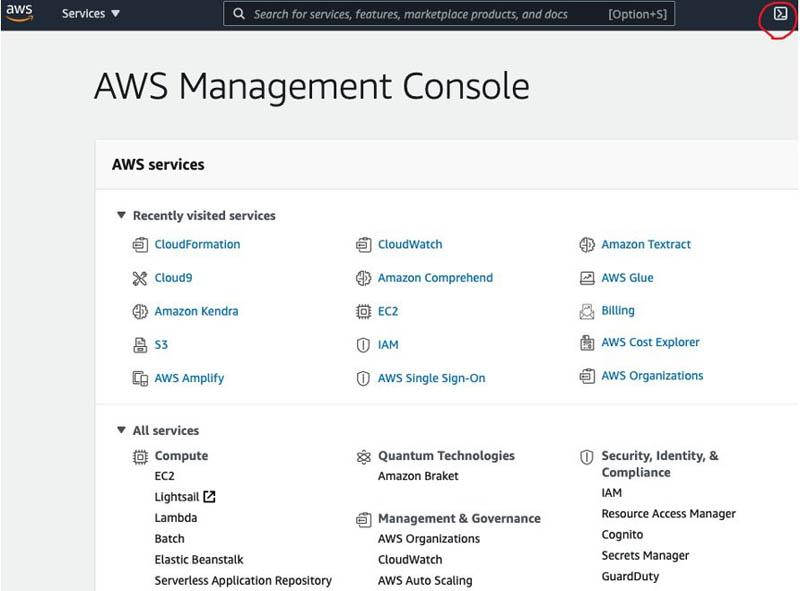 7 AWS Management Console