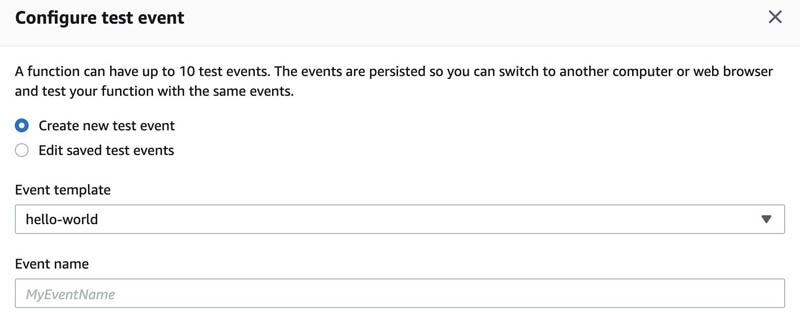 9 configure test event