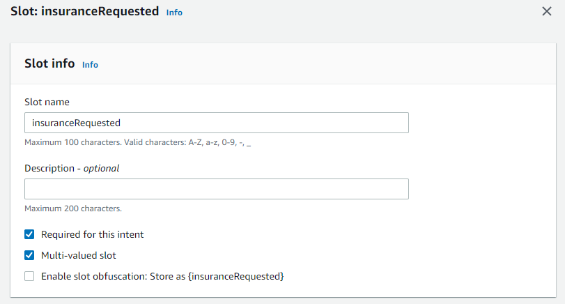 Build conversation flows with multi-valued slots in Amazon Lex