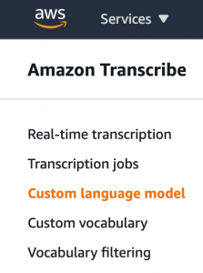 Boost transcription accuracy of class lectures with custom language models for Amazon Transcribe