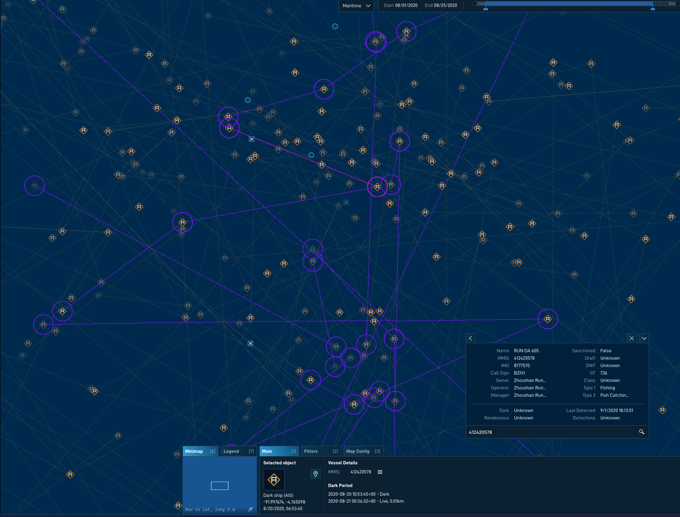 HawkEye 360 predicts vessel risk using the Deep Graph Library and Amazon Neptune