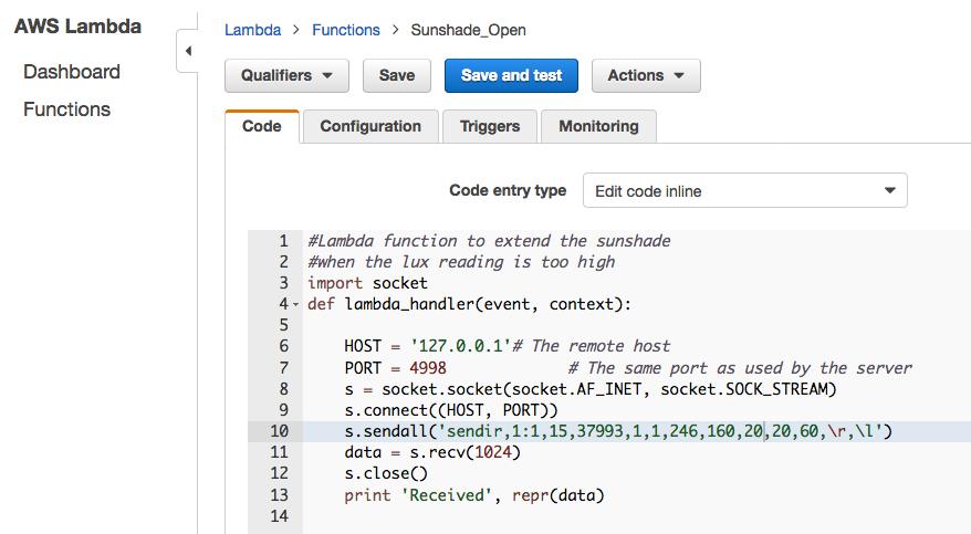 AWS Lambda Python code