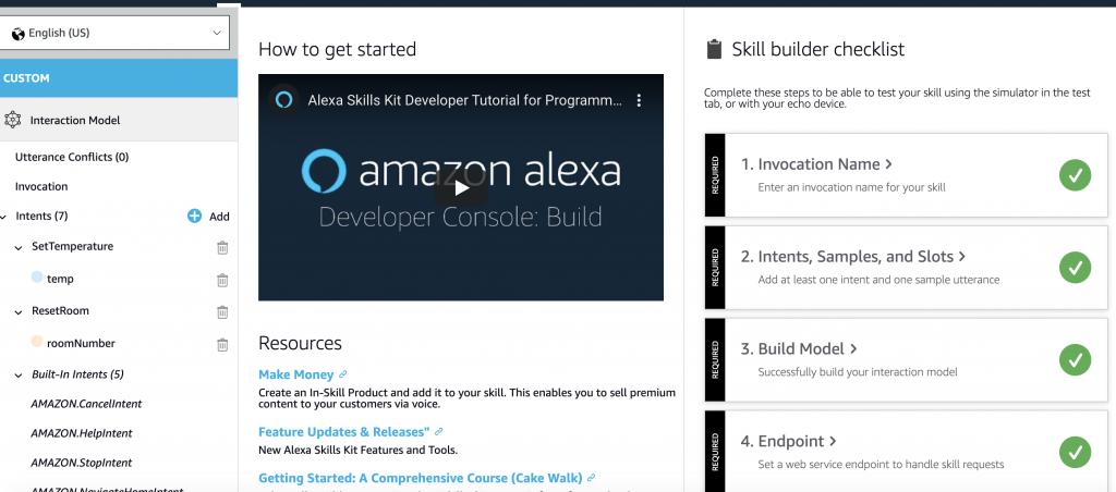 On build tab. Click Build model.