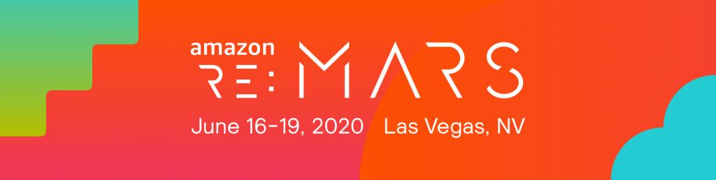 Amazon re:Mars will take place June 16-19, 2020 in Las Vegas, Nevada.