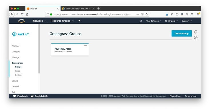 AWS IoT Greengrass Groups
