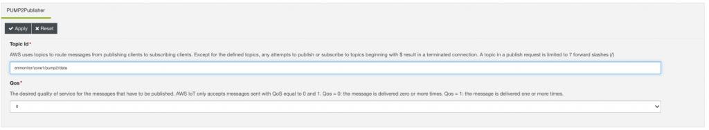 Pump 2 Publisher component in Everyware Software Framework