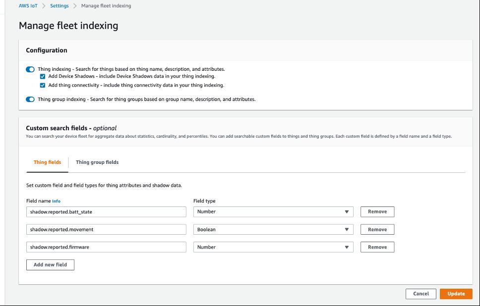 Adding custom fields into Fleet Indexing