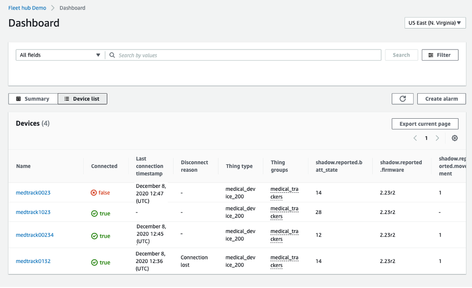 How to set up the Fleet Hub Dashboard in the AWS IoT Device Management service console