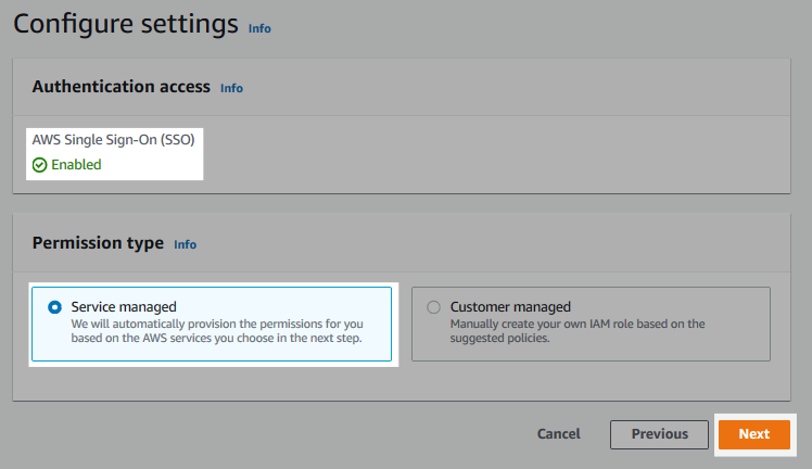 Screenshot of the authentication configuration form.