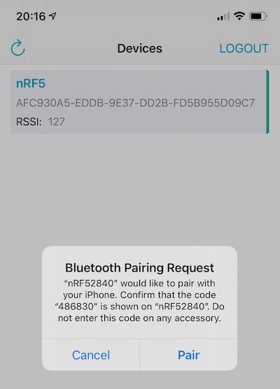 Bluetooth Pairing Request