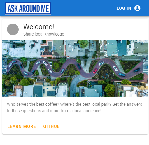 Ask Around Me front end application