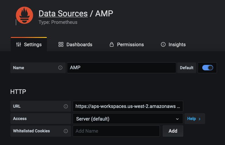 Подключение AMP вручную в качестве источника данных
