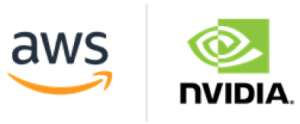 AWS logo and NVIDIA logo