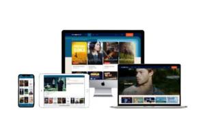 MOJEeKINO.pl platform displayed on multiscreen devices