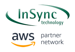 InSync technologies logo and AWS partner network logo