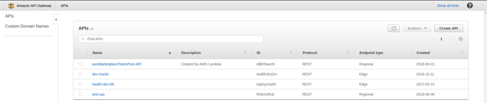 Amazon API Gateway Interface