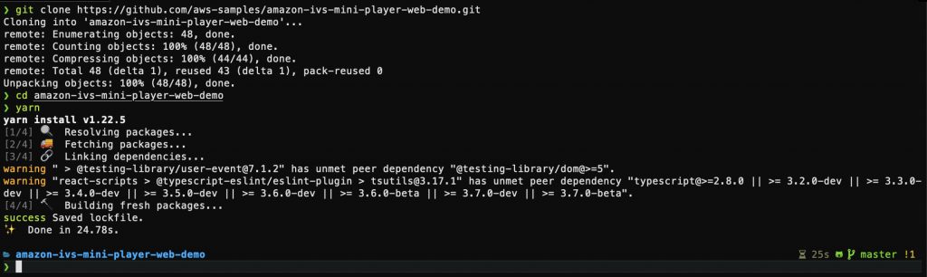 """Command Line Interface using the """"git clone"""" command for this project's GitHub repository"""