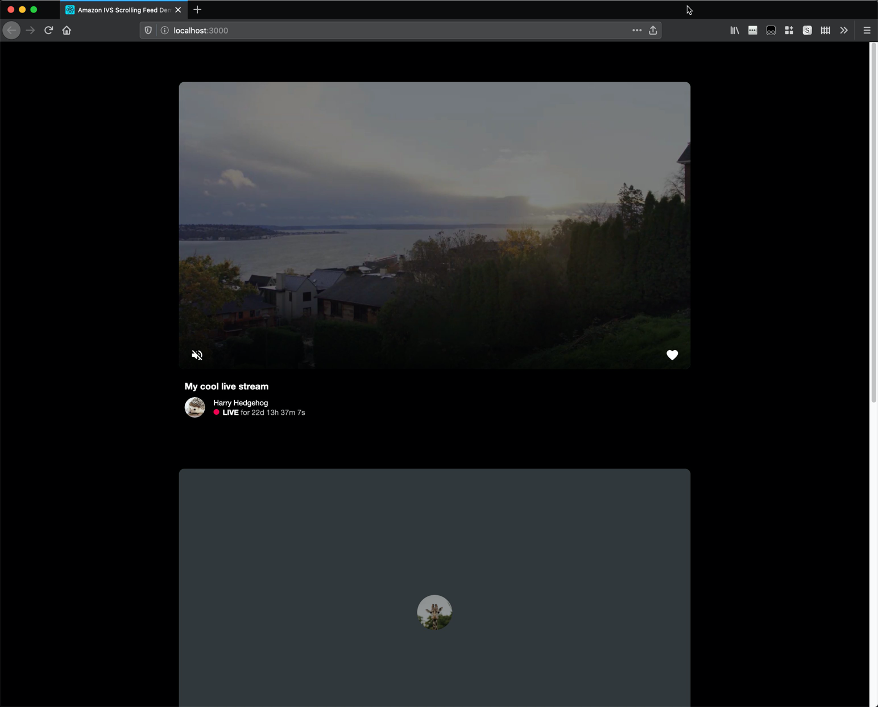 Web browser showing a large active video player above an inactive video player