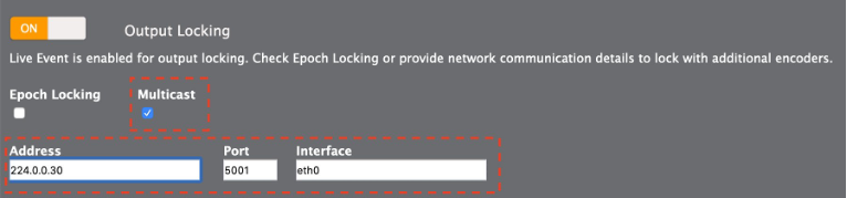 [Output Locking] settings