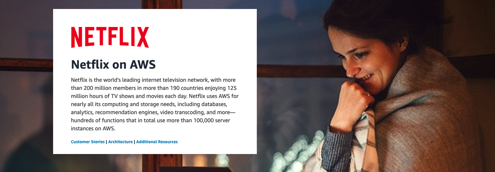 Netflix on AWS Innovator page preview