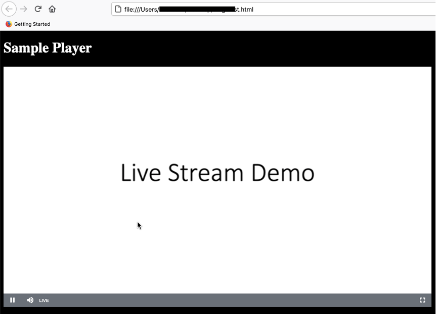 The sample player, the live stream