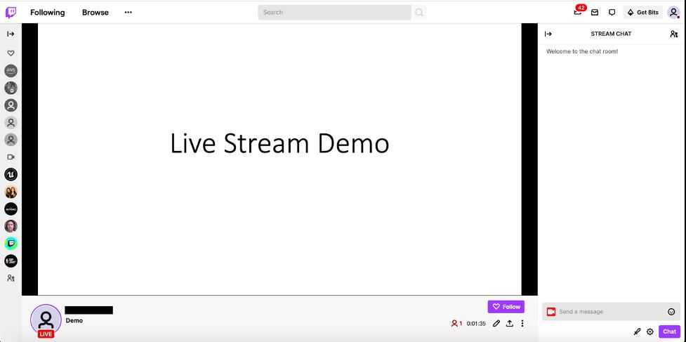 Twitch live stream