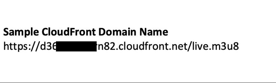 Sample CloudFront Domain Name