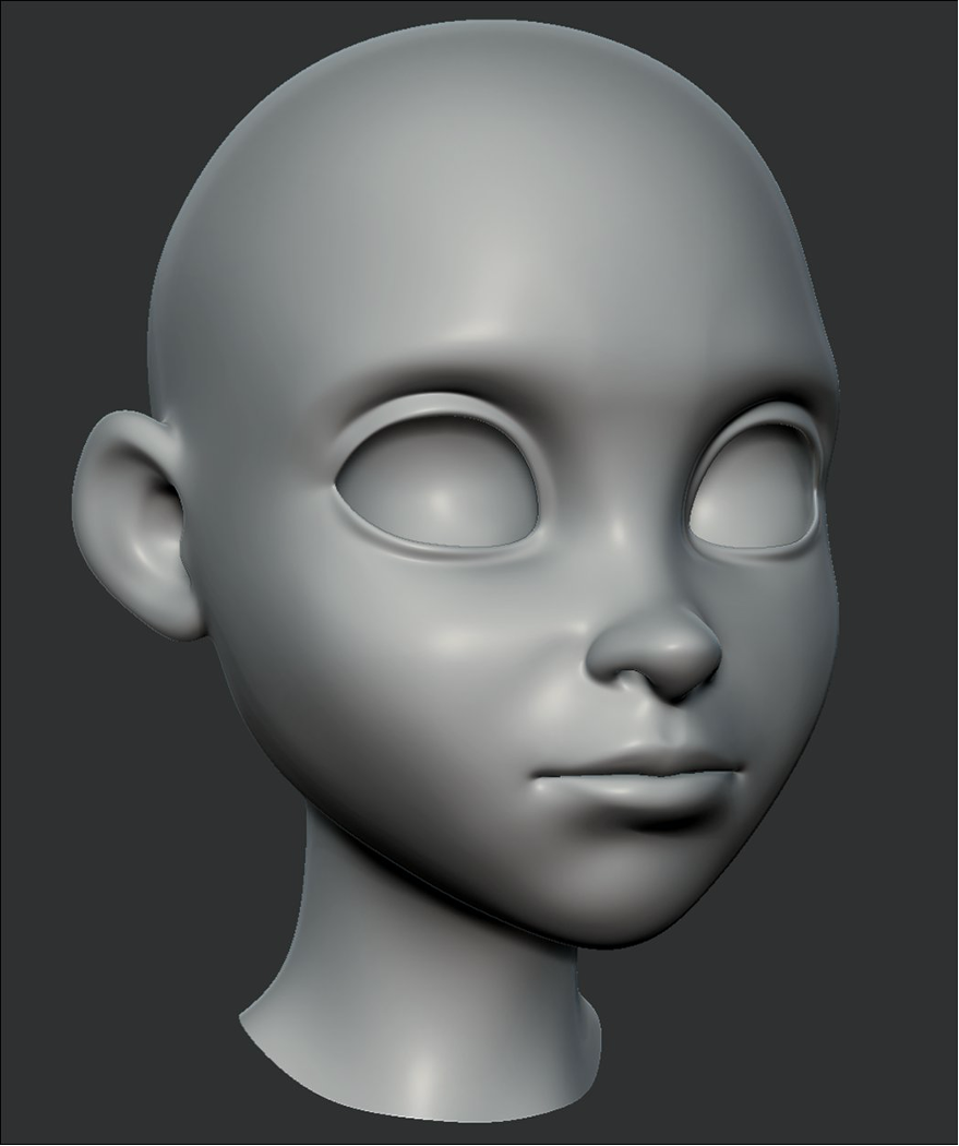 ZBrush - Brows down
