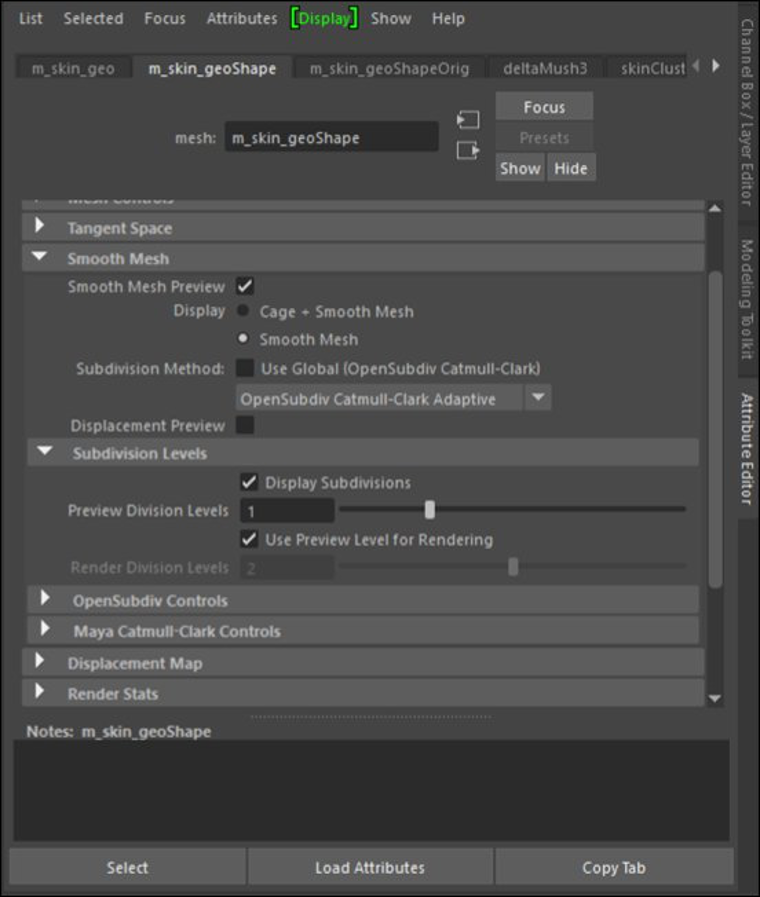 Displacement preview option
