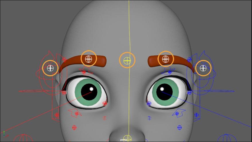 Eyebrow controls